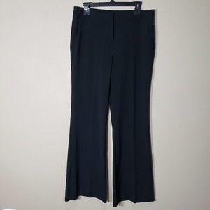Kenneth Cole Wide Leg Black Trouser Pants 8